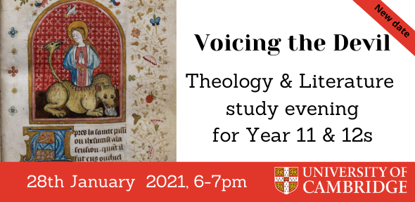 Details for the 2021 Theology & Literature study evening