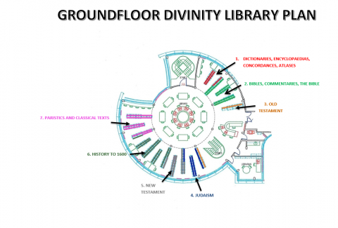 Divinity Library, floor plan, ground.