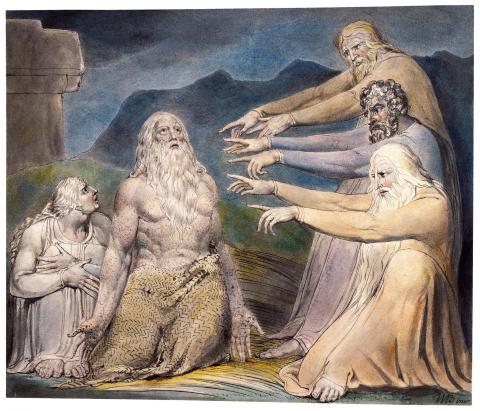 William Blake, Job Rebuked by His Friends (June 1805)