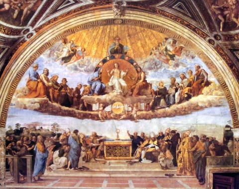 Raphael, Disputation Concerning the Holy Sacrament (Vatican)