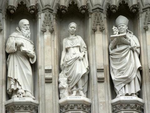 Bishop Janani Luwum among the Twentieth Century Martyrs, Westminster Abbey