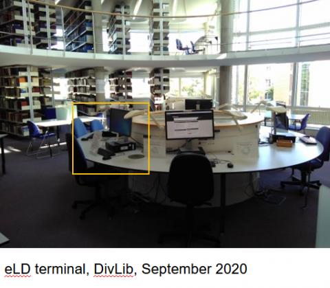 electronic legal deposit terminal