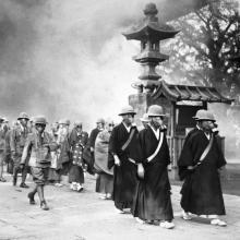 Monks at Asakura Temple in Tokyo 1936