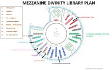 Divinity Library, floor plan, mezzanine