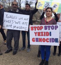 Yezidi Genocide Protest Washington
