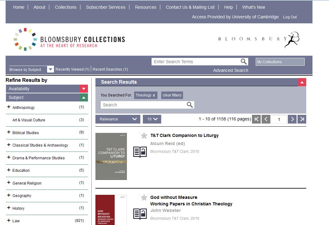 Ebook trial of Bloomsbury Collections (until 10 Dec 2015)