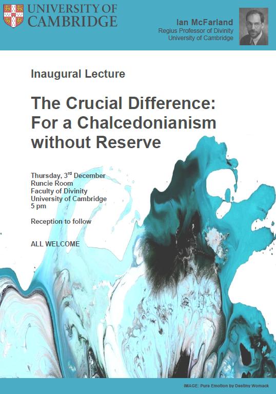 Ian McFarland's Inaugural Lecture